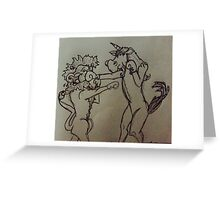 The Fight Greeting Card