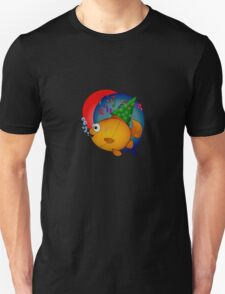 Happy Goldfish Birthday with Balloons and Confetti! Unisex T-Shirt