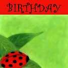 Happy Birthday - Ladybug by Julie Thomas