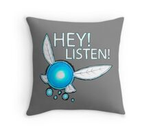 Navi!  HEY! LISTEN! Throw Pillow