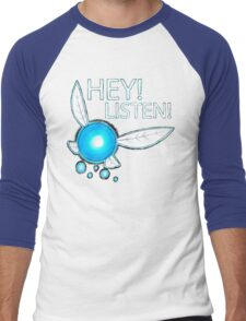 Navi!  HEY! LISTEN! Men's Baseball ¾ T-Shirt