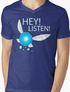 Navi!  HEY! LISTEN! Mens V-Neck T-Shirt