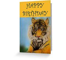 Happy Birthday - Tiger Greeting Card