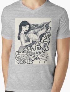 Iconic M Mens V-Neck T-Shirt