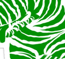 Zebra EBT Green and White  Sticker