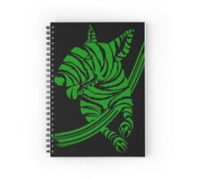 Zebra EBT Green and White  Spiral Notebook
