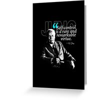 A Quote from Carl Gustav Jung Quote #24 of 50 available Greeting Card