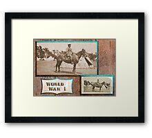 Light Horseman  WW1 Framed Print