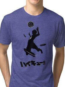 Haikyuu!! Hinata spike - black Tri-blend T-Shirt
