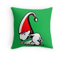 English Bull Terrier Gnome Throw Pillow