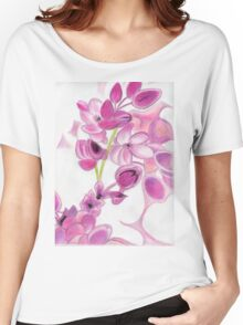 Psychedelic Pink Florals Women's Relaxed Fit T-Shirt