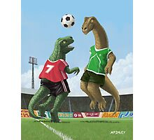 dinosaur football sport game Photographic Print