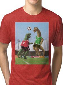 dinosaur football sport game Tri-blend T-Shirt