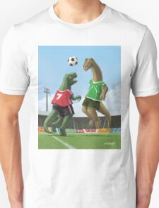 dinosaur football sport game Unisex T-Shirt