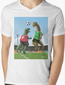 dinosaur football sport game Mens V-Neck T-Shirt