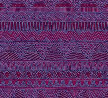 Grape Aztec Pattern by Stacey Muir