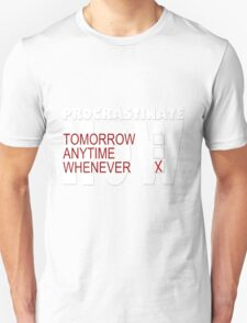 Procrastinate on black T-Shirt