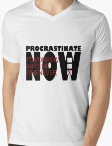 Procrastinate on White Mens V-Neck T-Shirt