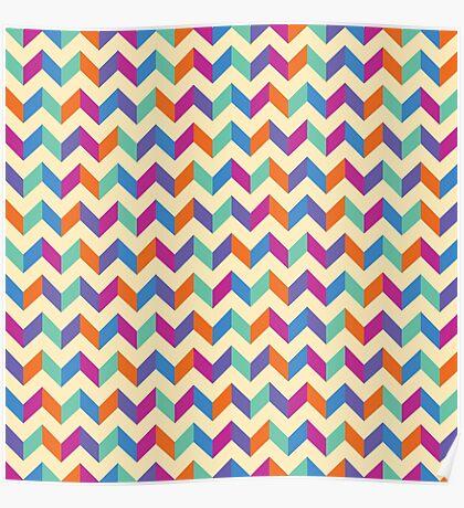 Colourful Chevron Poster