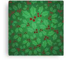 Jolly Holly Canvas Print