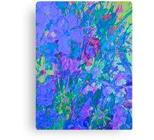 Janai-Ami Floral,  Venice Trilogy, Blue Canvas Print