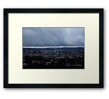 LA & Glendale skylines Framed Print