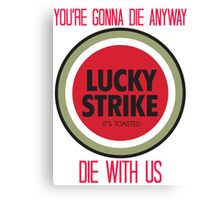 mad men lucky strike ad - red text Canvas Print