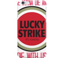 mad men lucky strike ad - red text iPhone Case/Skin