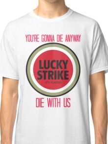 mad men lucky strike ad - red text Classic T-Shirt