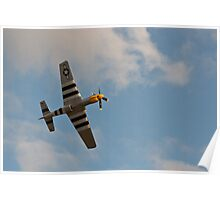 Mustang Overhead - Duxford Poster