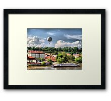 Prague - balloon.. Framed Print