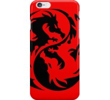 Dragon yin yang. iPhone Case/Skin