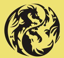 Dragon yin yang. One Piece - Short Sleeve