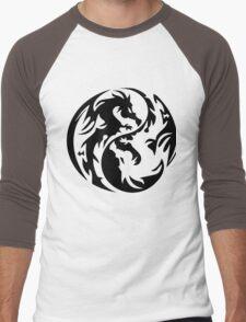 Dragon yin yang. Men's Baseball ¾ T-Shirt