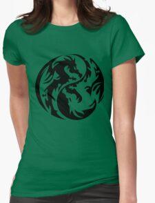 Dragon yin yang. Womens Fitted T-Shirt