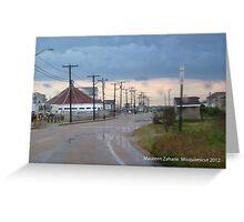 misquamicut, ri rain Greeting Card