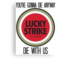 mad men lucky strike pitch Canvas Print