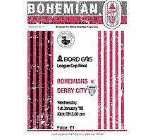 Bohemians vs Derry City Retro Match Programme Photographic Print