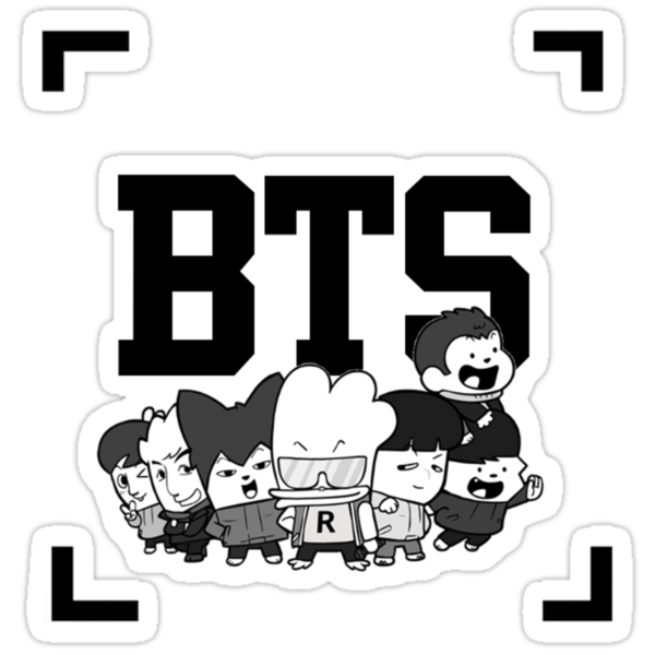 """""""BTS Hip Hop Monsters"""" Stickers by lisa98 Redbubble"""