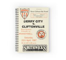 Derry City vs Cliftonville Retro Match Programme Spiral Notebook