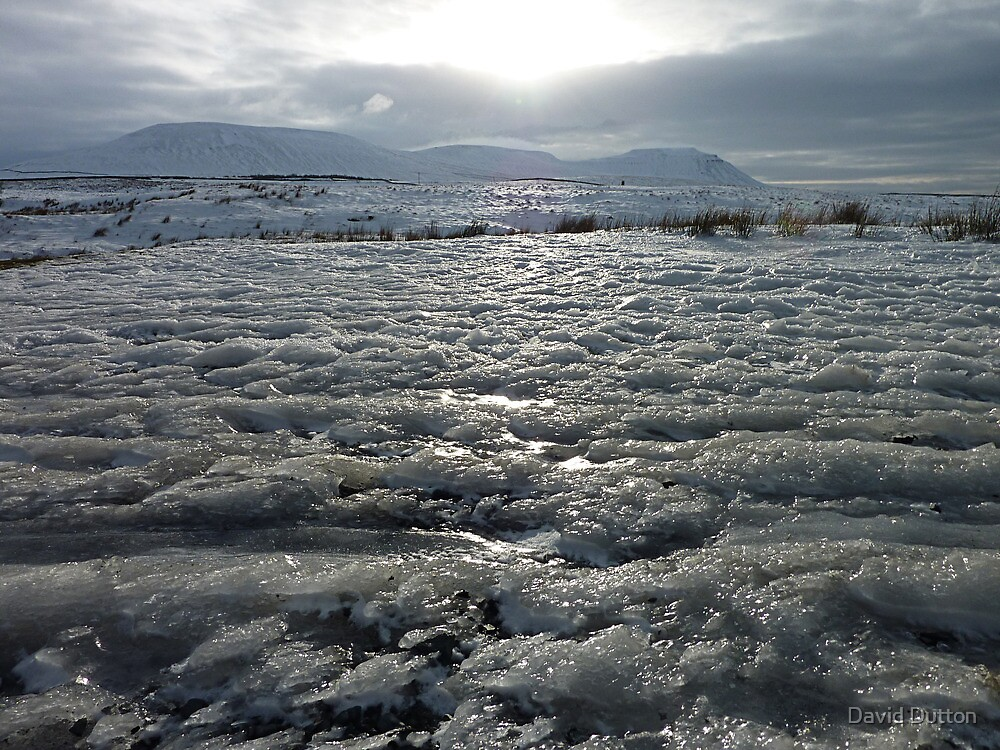 Sea of Snow. Ribblehead, Yorkshire Dales, England. by David Dutton