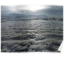 Sea of Snow. Ribblehead, Yorkshire Dales, England. Poster