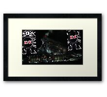 ACDC on stage Framed Print