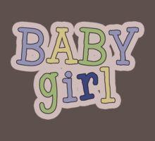 Baby Girl Word Art Baby Tee