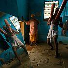 Kusti. Varanasi by Claude  Renault