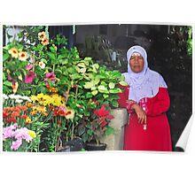 Balinese flower seller Poster