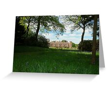 Bluebells lead to Blickling hall Greeting Card