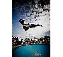 Cory Juneau doing AIR in Bondi Bowl Photographic Print