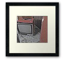 tele. Framed Print