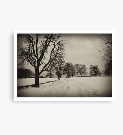 Nostalgic countryside Canvas Print